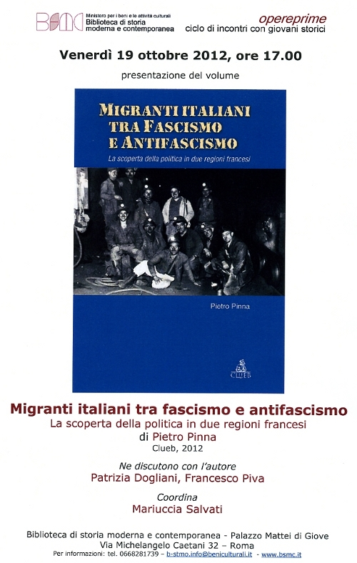 imigranti italiani tra fascismo e antifascismo