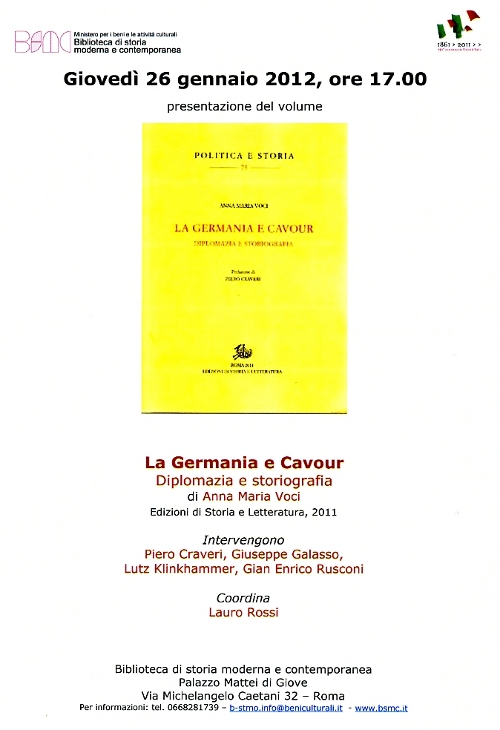 la germania e cavour